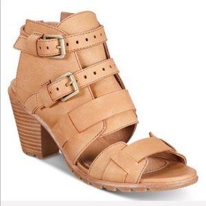 SOREL Nadia Camel Brown Buckle Sandals Size 11